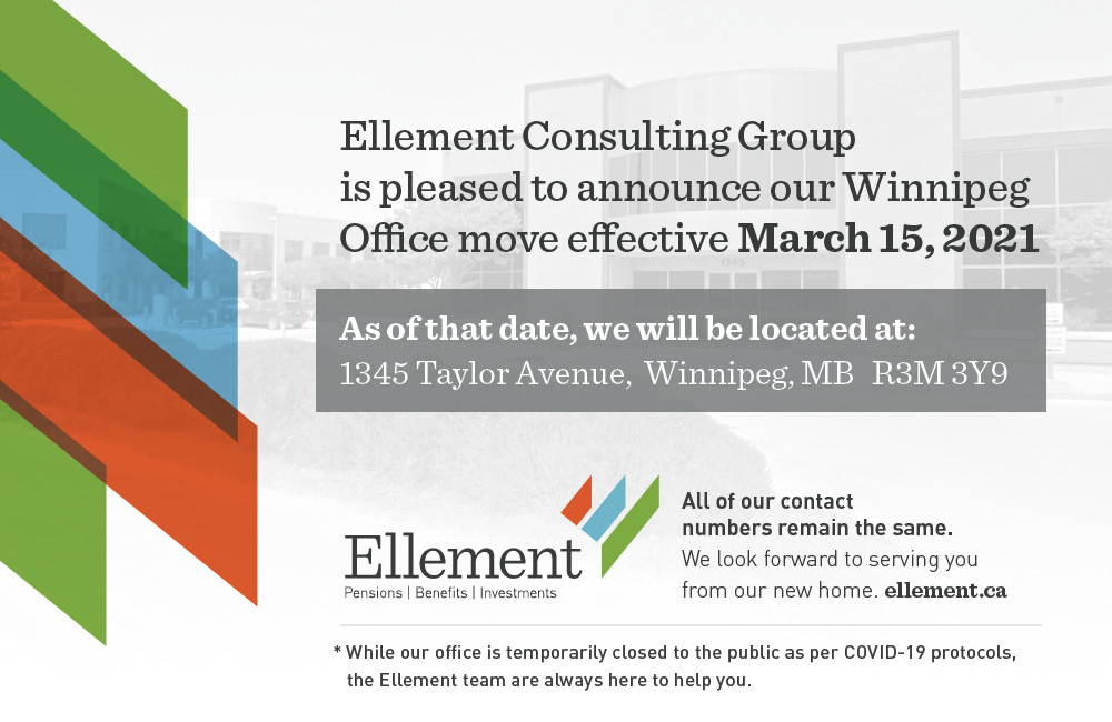 Ellement Consulting Group is pleased to announce our Winnipeg Office move effective March 15, 2021. As of that date, we will be located at 1345 Taylor Avenue, Winnipeg, MB R3M 3Y9. All of our contact numbers remain the same. We look forward to serving you from our new home.